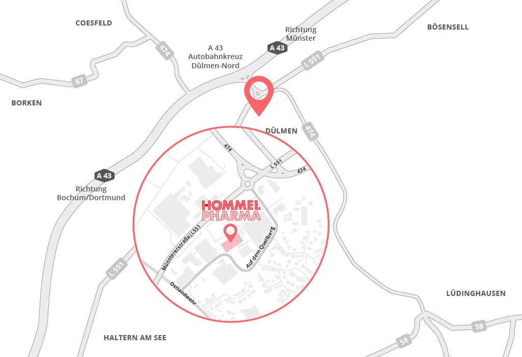 Anfahrt Hommel Pharma